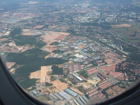 マレーシア上空