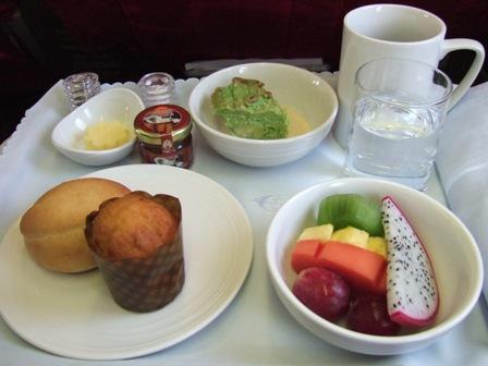 飛行機 機内食1