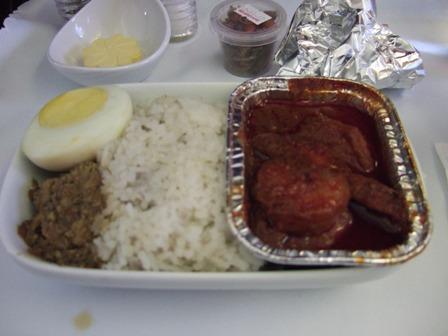 飛行機 機内食2
