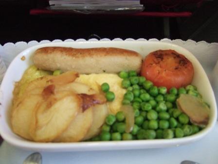 飛行機 機内食3