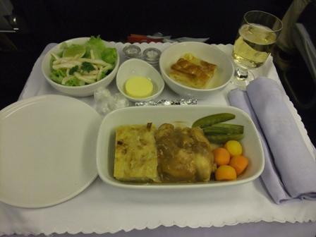 機内食 チキン