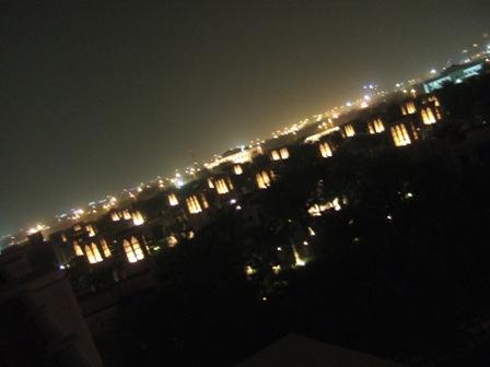 夜のテラス1