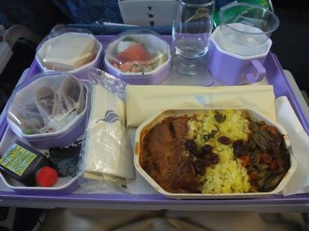 機内食 カレー