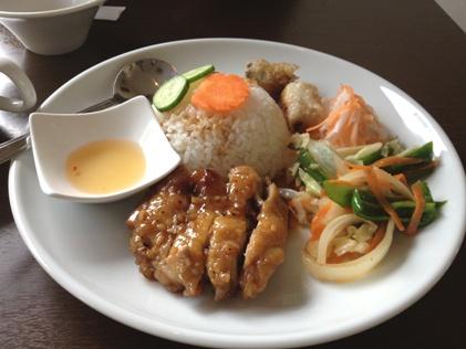 鶏のせご飯