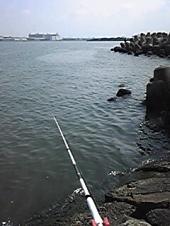 移動後の釣座