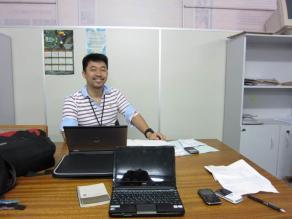 CEPLAC内臨時事務所