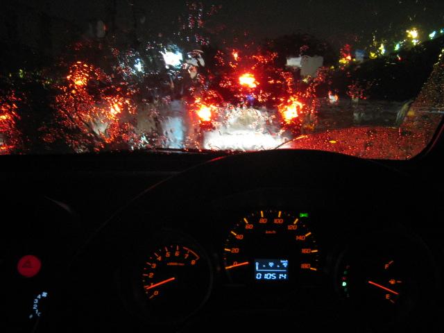 土砂降りでございます^^;