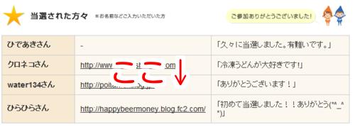 「リンクシェア・アンケート」当選!!