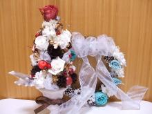 花冠はなかんむり 名古屋 プリザーブドフラワー教室-クリスマスツリー、リース
