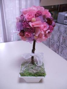 花冠はなかんむり 名古屋 プリザーブドフラワー教室-トピアリー・ツリー