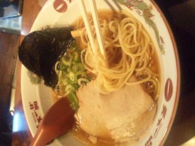 天下一品北新地店ラーメン定食ラーメンあっさり普通麺