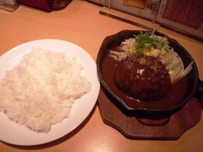 YEBISU BAR(ヱビスバー)ホワイティうめだ店ランチハンバーグステーキデミグラスソース650円