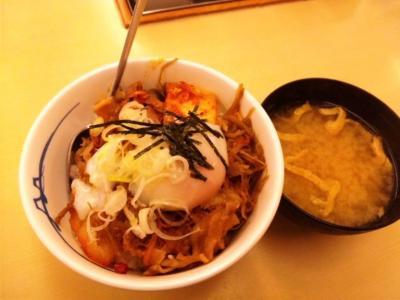 松屋梅田店20110528ビビン丼(並)430円が340円