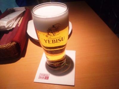 YEBISU BAR(ヱビスバー)ホワイティうめだ店ヱビスビール350ml550円