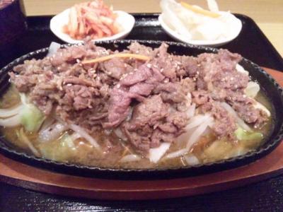 韓国料理ソウル焼肉定食800円焼肉野菜炒め