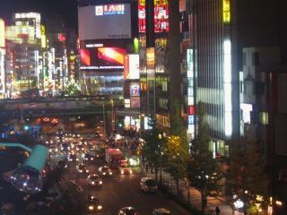 新宿よかちゃから撮影した夜景