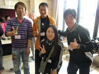 (左から)Y百さん、U澤さん、私、T井さん