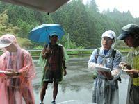 30km地点のエイドにて (左から シュガーさん、Nakayoshiさん、S山先輩、旦那さん)