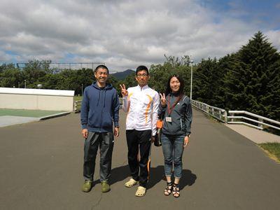 M里さんとM里さんのご友人と  真駒内公園にて