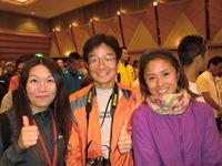 (左から) 私、木曽路アスリートさん、O合さん