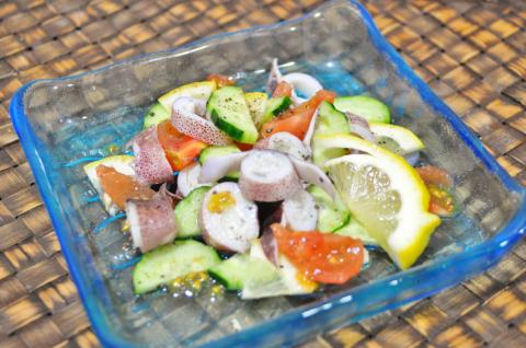 豆イカのサラダ