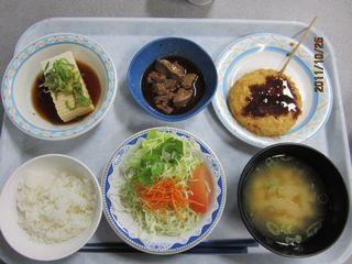 平成23年10月25日学食