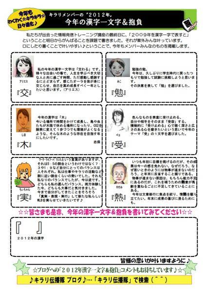 キラリ17号漢字
