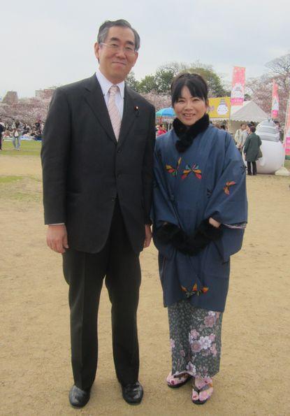 平成24年4月7日松本代議士と