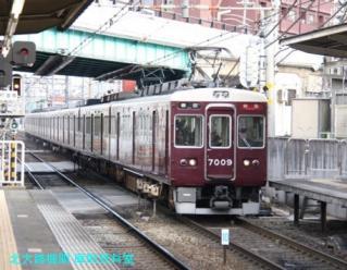 阪急のサボ付3000系電車を撮ってきた 1