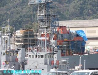舞鶴基地の護衛艦あぶくま、呉への整備 9