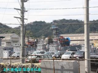 舞鶴基地の護衛艦あぶくま、呉への整備 10