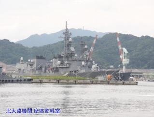 舞鶴基地特集、舞鶴市役所の裏から掃海艇とミサイル艇 3