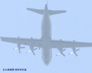 見上げればP3C,岐阜方面から飛んできた 3