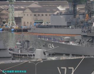 舞鶴基地 護衛艦みねゆき帰港と接岸 9