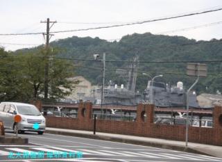 舞鶴基地 北吸桟橋バス車内からの風景写真 3