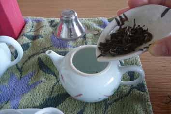 茶葉いれる
