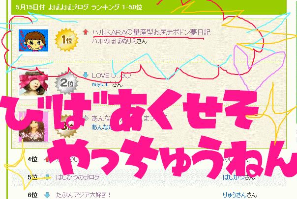 ハルKARAの量産型お尻テポドン夢日記-アメブロランキングを上げる方法画像