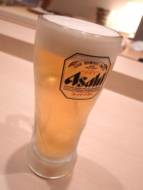 131101鮨紺乃-生ビール