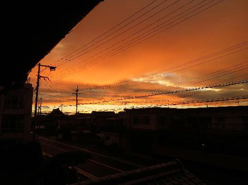 4.綺麗な夕焼け