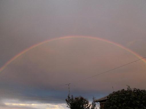 1.虹が出た