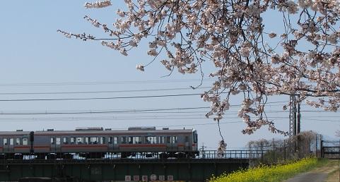 東海道線の木曽川橋梁付近