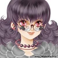 ヨウム眼鏡の少女