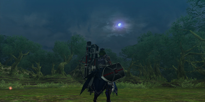 樹海で月を見るのは初めてな気がしますね=3