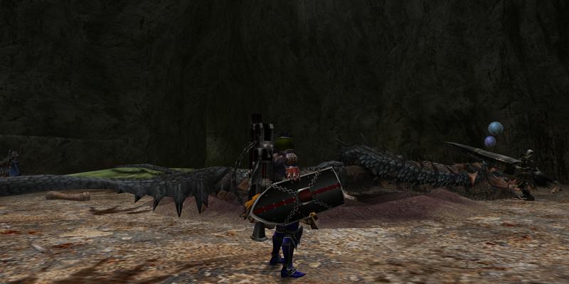 アオ・レウスを捕獲しました。in武器・装備自由エリア