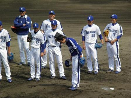 4月24日投手陣練習6