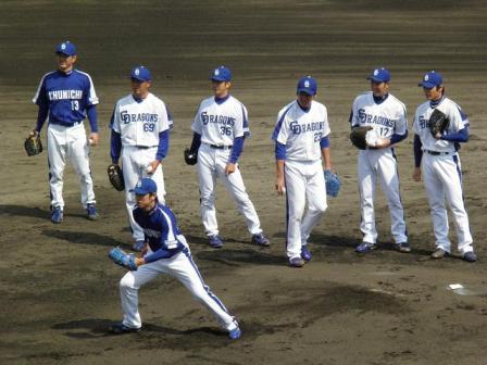 4月24日投手陣練習4