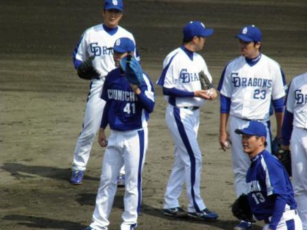 4月24日投手陣練習3