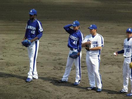 4月24日投手陣練習1
