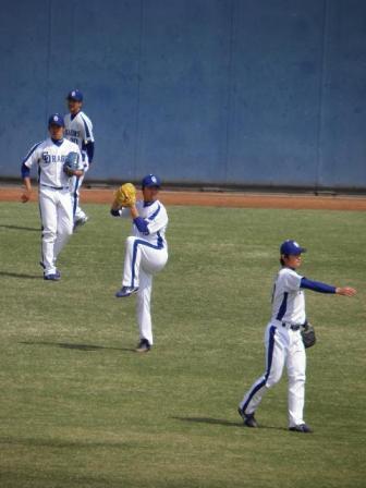 4月24日投手陣練習2