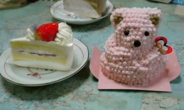 いちごショートとべあケーキ♪